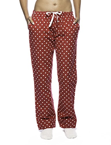 Women's Premium Flannel Lounge Pant - Dots Diva Red - 2XL