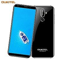 OUKITEL K5 - 5,7 Pollici (Rapporto 18: 9 Visione Completa) 4G Smartphone Libera, 4000mAh Batteria, 1.3GHz Quad Core 2GB RAM 16GB ROM, 5MP + 13MP Fotocamera, Android 7.0 Impronte Digitali Dual SIM GPS G-sensor