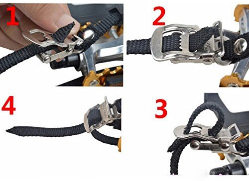 Leadrise®1 Pair Nylon Cycling MTB Road Mountain Bike Bicycle Pedal Toe Clip Strap Belts by Leadrise (Image #2)