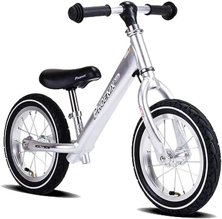 Bicicleta sin pedales Bici Bicicleta de Equilibrio para niño/niña de 3 años - Bicicleta de Entrenamiento con neumático neumático para niños, Bicicleta para niños de 12 Pulgadas (Azul/Gris/Rojo): Amazon.es: Hogar