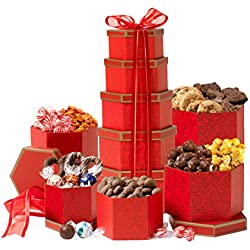 Valentines Day Thinking of You Gift Tower For Her or Him