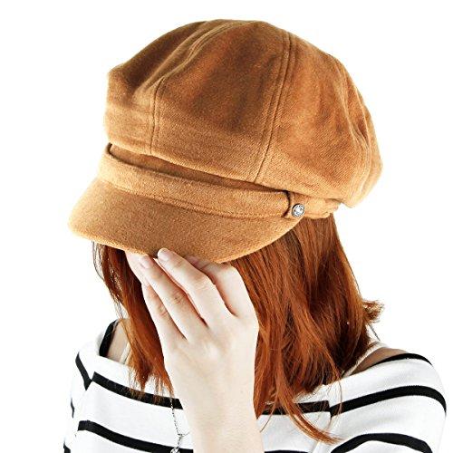Samtree Newsboy Hats for Women,8 Panel Applejack Gatsby Visor Cabbie Cap