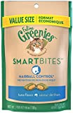 Feline Greenies Smartbites Hairball Control Tuna Flavor Cat Treats 4.6 Ounces With Natural Ingredients Plus Vitamins - Minerals - And Other Nutrients