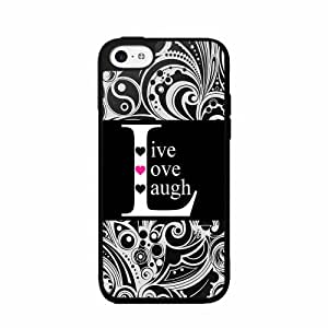 Black Live Love Laugh TPU RUBBER SILICONE Phone Case Back Cover iPhone 5 5s