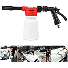 Powstro Car Cleaning Foam Gun Multifunctional Washing Foamaster Gun Water Soap Shampoo Sprayer 900ml for Van Motorcycle Vehicle