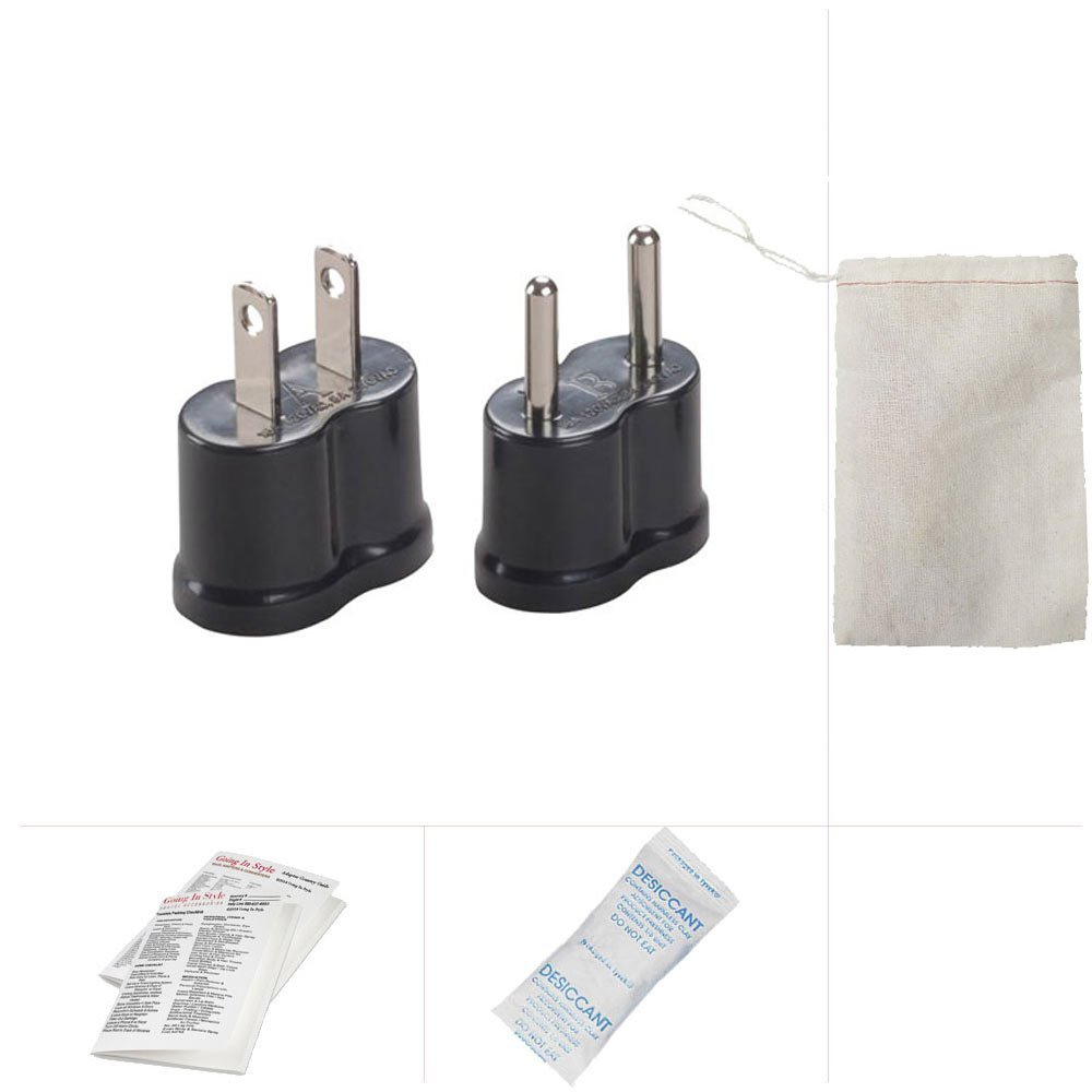 Going In Style Peru Nongrounded Travel Adapter Plug Kit 120 Ac Power Wiring A And B Clothing