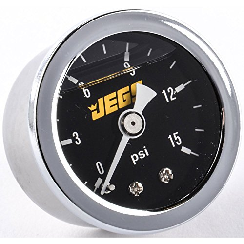 JEGS Performance Products 41010 Fuel Pressure Gauge 0-15 psi Black Dial by JEGS