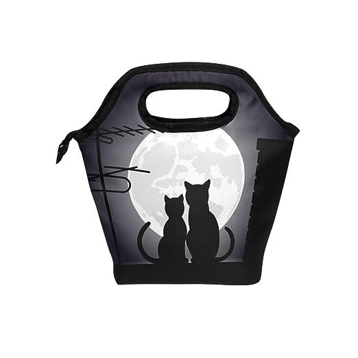 Eslifey Cats Moonlight - Bolsa térmica para almuerzo, bolsa ...