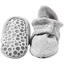 Zutano Baby Boys' Cozie Fleece Booties with Grippers