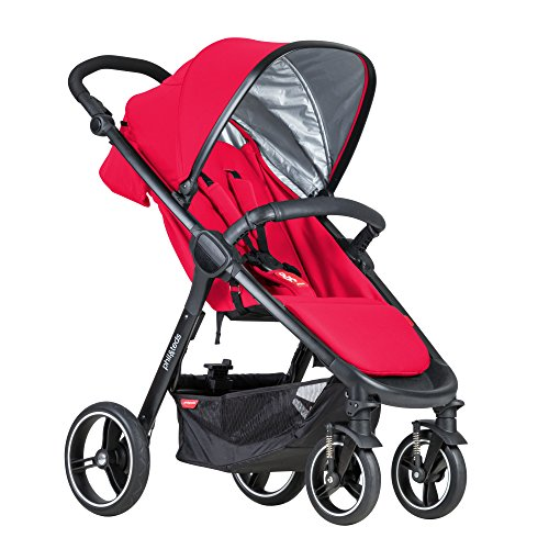 phil&teds Smart Buggy Pushchair, Cherry
