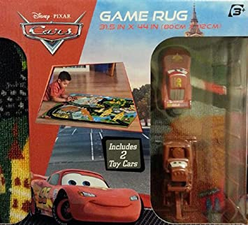Disney Cars Game Rug Includes Mater And Lightning Mcqueen Cars