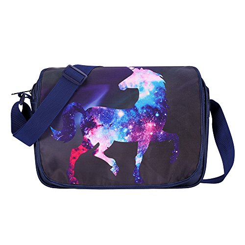 Bonamana Unicorn Cute Cartoon Messenger Bag Backpack Girls Boys Shoulder Bags Daypack for 14