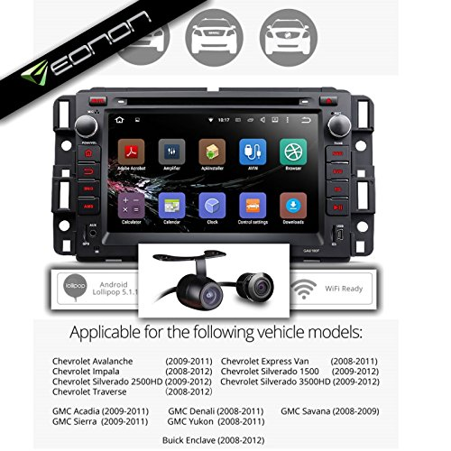 Eonon GA6180F Direct Fit Infotainment System Silverado/Express Van/Avalanche/Acadia/Yukon/Impala With HD Backup Camera: 7-Inch Touch Screen DVD / WiFi / GPS / Bluetooth (Best Aftermarket Infotainment System)