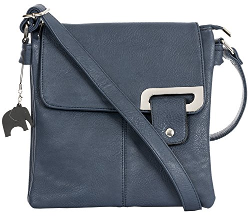 Medium Shop a Silver Bag Bag Body Branded Handbag Shoulder Messenger Navy Protective With Big Womens Storage Cross and Trim Charm Trendy w5tPZ