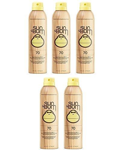 Sun Bum Continuous Spray iUaNX Sunscreen, SPF 70 (5 Pack)