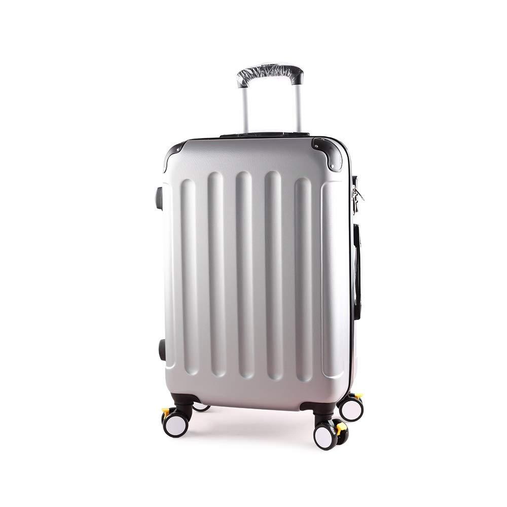 XF シルバートロリーケースパスワードスーツケース旅行スーツケース男性と女性大容量荷物学生ボックスブレーキホイール付き拡張 トラベルバッグスーツケース (Size : 46.5cmX29cmX75cm) B07T4LM49K  46.5cmX29cmX75cm