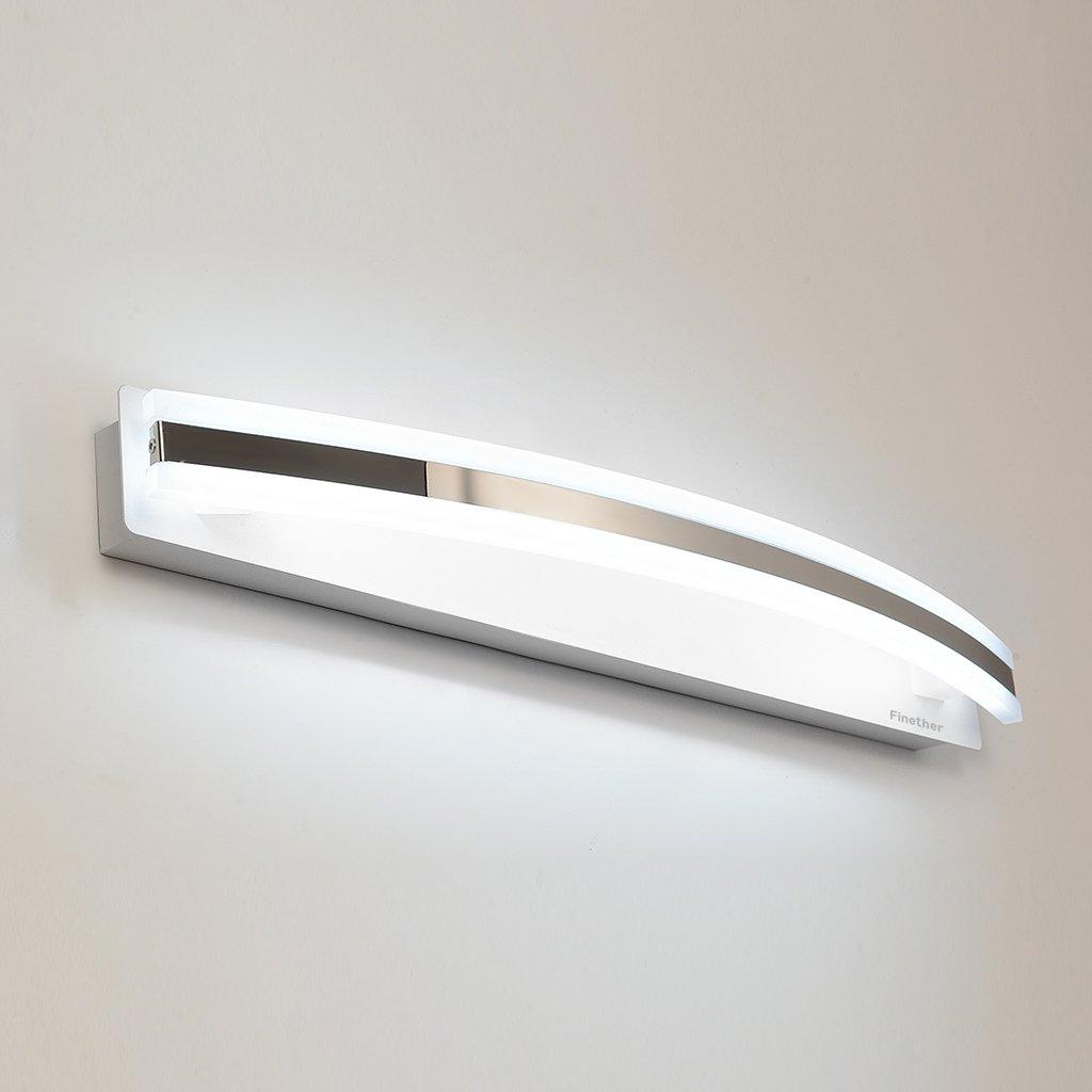 Finether-lámpara para Espejo de Baño(12W, Luz Blanco,Brillante y ...