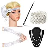Beelittle 1920s Accessories Headband Earrings Necklace Gloves Cigarette Holder (G4)
