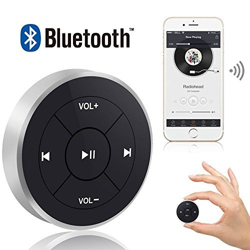 Wireless Bluetooth Media Remote Control Button Car Steering Wheel Bike Mounting