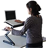 Laptop Standing Desk with Mouse Pad Adjustable Ergonomic Sit to Stand Table