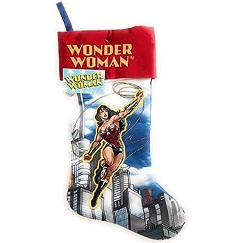 Amazon.com: Wonder Woman Super Hero Christmas Stocking: Kitchen ...