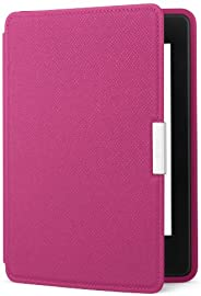 Amazon Kindle Paperwhite Leather Case, Ink Fuchsia - fits all Paperwhite generations prior to 2018 (Will not f