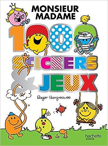 Monsieur Madame 1000 Stickers Et Jeux Amazon Fr Roger