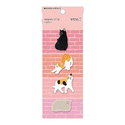 Midori clip imán, 4 piezas, gatos (43324006): Amazon.es ...