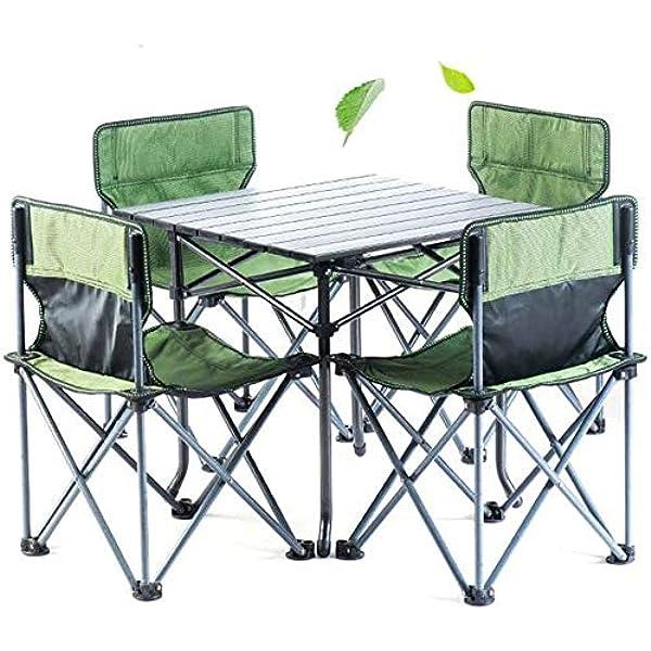 Empty 5PC Muebles de Patio jardín Conjunto Plegable Mesa de ...
