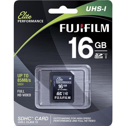 Fujifilm Elite 16GB SDHC Class 10 UHS-1 Flash Memory Card 600x / 90MB/s (Fujifilm 16gb Sdhc Class 10 Memory Card)