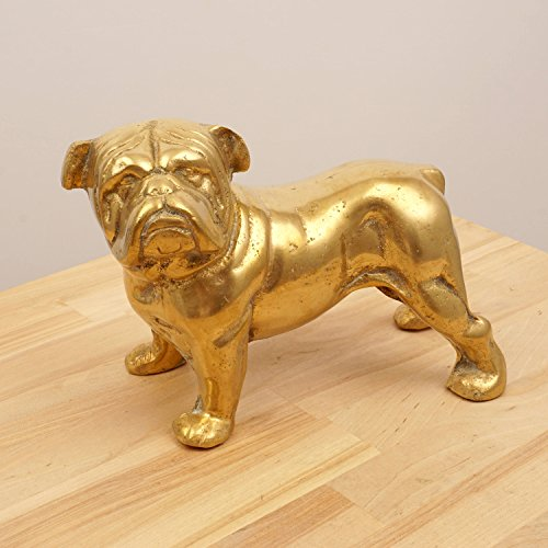Restored by UkaVintage French Bulldog || Vintage Solid Brass Dog Sculpture Statue || Metal Alloy Figurine/Statuette (Bulldog Metal Sculpture)
