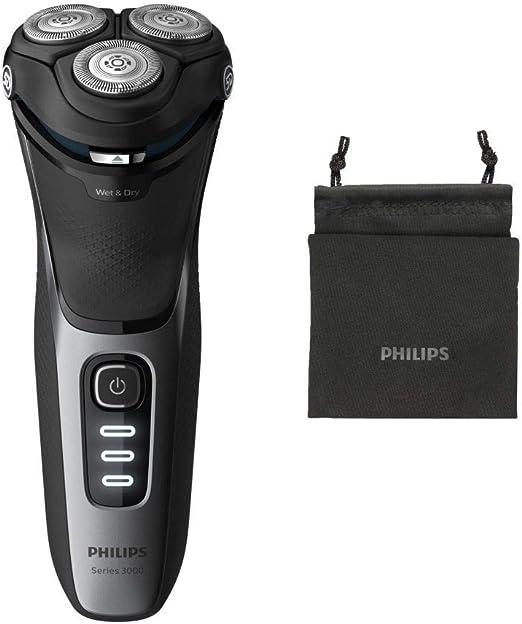 Philips Afeitadora eléctrica en seco o húmedo, Series 3000 S3231 ...