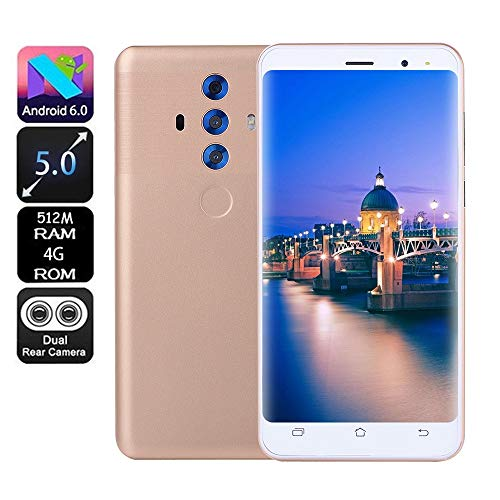Price comparison product image Unlocked Smartphone 5.0 inch Dual SIM Smartphone Android 6.0 Full Screen GSM / WCDMA Touch Screen WiFi Bluetooth GPS 3G Call Mobile Phone New (Gold)