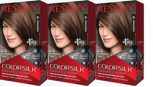 Revlon Colorsilk Beautiful Color, Medium Brown, 3 Count
