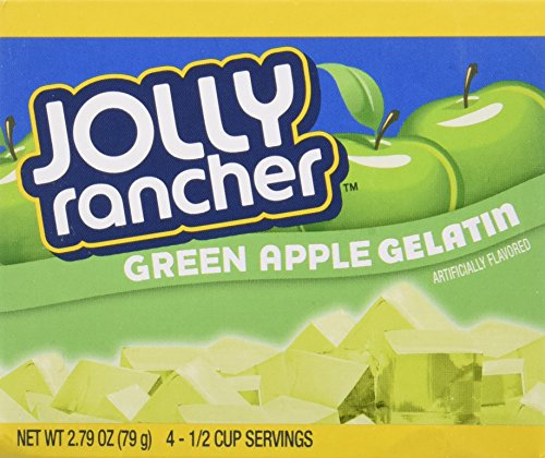 JOLLY RANCHER Green Apple Gelatin Jello 2.79 oz (Pack of 4) ()