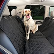 Amazon #LightningDeal 85% claimed: Premium Dog Seat Covers for Cars - Waterproof Hammock Style Pet Seat Covers. Quilted 600D Cover for Leather & Fabric Rear Seats in Cars, Trucks and SUV's
