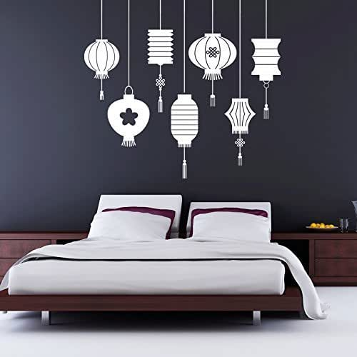 Vinyl Wall Decal Traditional Asian Chinese Oriental Lantern Decorations Home Office