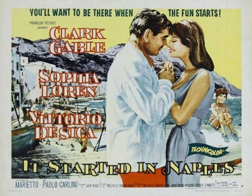 It Started In Naples Notice Movie (22 x 28 Inches - 56cm x 72cm) (1960) (Half Sheet Style A)