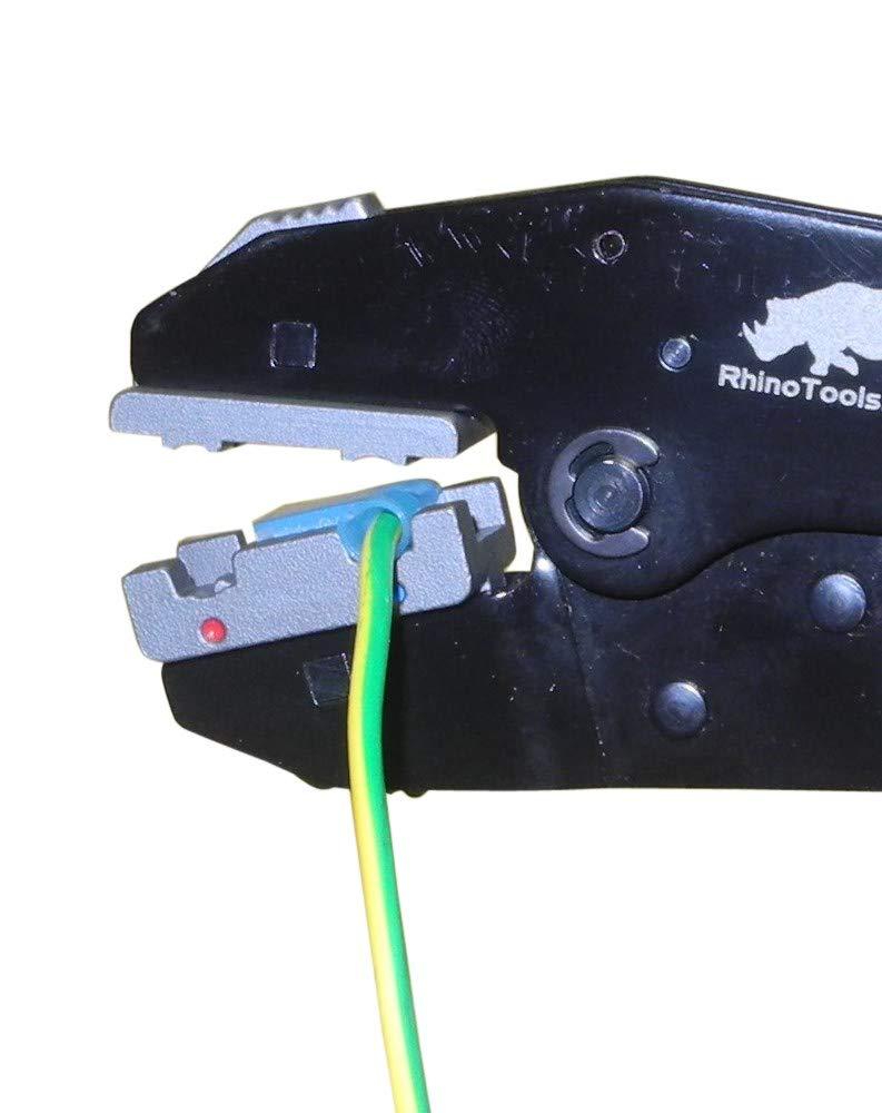 Conectores AWG 22 Kit de crimpado de terminales de bandera aislada 10