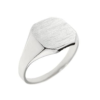 26a0827f5ef 925 Sterling Silver Custom Engravable Octagon Men's Signet Ring ...