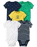 Carter's Carters' Baby Boys 5 Pack Bodysuit Set, Cap Adorable, 9 Months