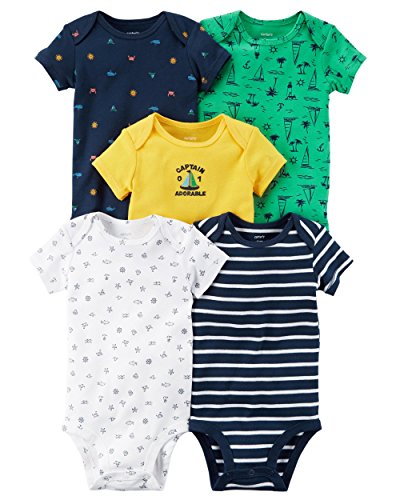eccff88038a Galleon - Carter s Baby Boys  5 Pack Short Sleeve Bodysuits Newborn