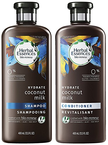 Herbal Essences Bio Renew Haircare - Hydrate - Coconut Milk - Shampoo & Conditioner Set - Net Wt. 13.5 FL OZ (400 mL) Per Bottle - One Set