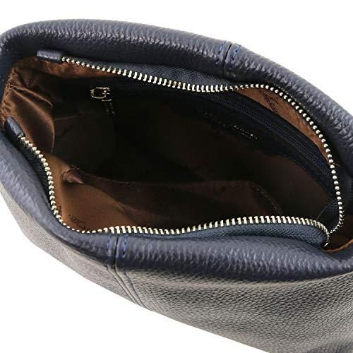Tuscany Cognac Bolso Azul badolera en Suave con TLBag Piel Oscuro Leather wWrAqOp7nw