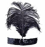 Search : 20s Flapper Gangster Silver Sequin Headband + Cigarette Holder + Black Gloves