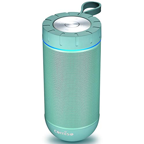COMISO Bluetooth Speaker with 360 Surround Sound, 24 Hour Playtime, 66ft Bluetooth Range, IPX5 Water Resistance Dual-Driver Wireless Speaker for iPhone, Samsung (Mint) (Color Teal Bedroom Ideas)