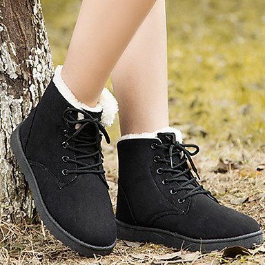 5 Boots Heel Fluff Boots Spring Wedge Novelty Suede Women'S EU39 Ankle Snow Comfort Lining Fall RTRY US8 Toe 5 CN40 Boots Round Boots Fashion Booties UK6 Shoes wZBtvX