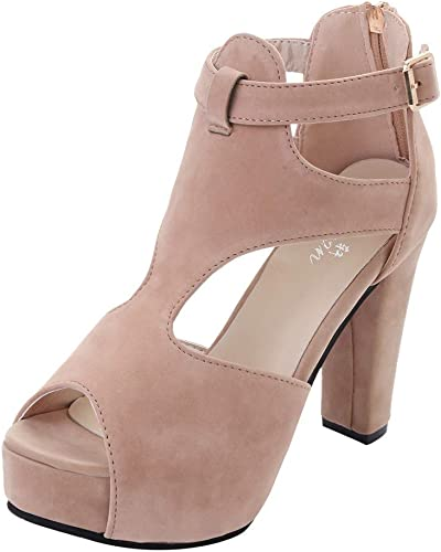 Luckycat Sandalias con Punta Abierta para Mujer Sandalias de Vestir cuña Alta tacón Roma de Playa para Mujer, Casual Zapatos Verano Fiesta Chancla