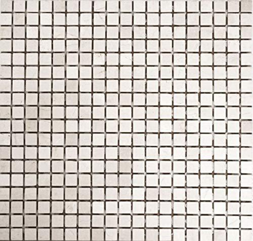 Mosaik MOS38-0104 Carrelage en marbre naturel Blanc Botticino Anticato