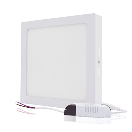 xtf2015 24W Square Led Surface Cool White 6000-6500k Super Bright LED Panel Light Ceiling Downlight Lamp Kit with LED Driver AC 110-240V - - Amazon.com